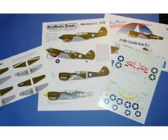 P-40 CURTISS ACES Pt.1, Aeromaster Decals 1/48 (48-308)
