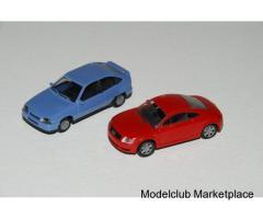 Audi TT (1999) & Opel Kadett (1985), Herpa & Rietze 1/87