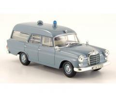 MINICHAMPS - Mercedes-Benz 190 Krankentransportwagen, Deutsches Rotes Kreuz 1961 1/43