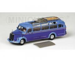 MINICHAMPS - Mercedes-Benz O 3500 BUS BLUE/LIGHT BLUE 1955 1/43