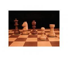 Ξύλινο σκάκι σέτ.