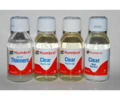 HUMBROL CLEAR & ACRYLIC THINNERS (set 125ml x 4)