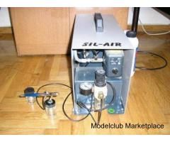 Αερογράφος Badger και Sil Air Compressor
