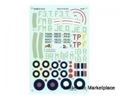 """HAWKER TYPHOON, """"Storms in the Sky"""", 1/48 (Aeromaster Decals)"""